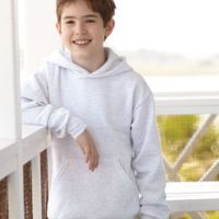 Hanes ComfortBlend® EcoSmart® Youth Hooded Sweatshirt Thumbnail